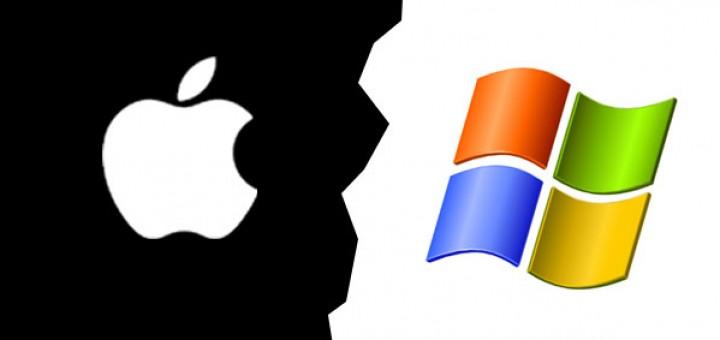 La confrontation entre les produits Apple et Microsoft