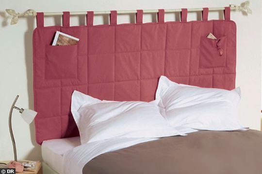 tête de lit avec poches